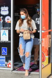 Addison Rae in Ripped Jeans - West Hollywood 01/04/2021