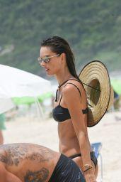 Alessandra Ambrosio - Beach in Rio de Janeiro 01/12/2021