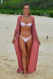 Alessandra Ambrosio in a Bikini at the Beach in Florianópolis 01/18/2021