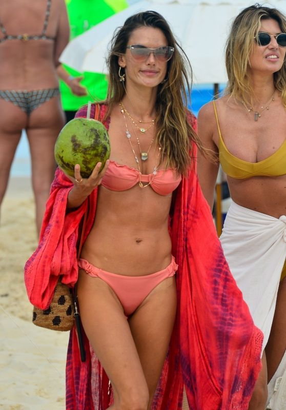 Alessandra Ambrosio in a Bikini - Beach in Florianópolis 01/02/2021