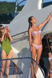 Alessandra Ambrosio in a Bikini on a Yacht in Florianópolis 01/01/2021