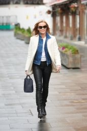 Amanda Holden in Leather Trousers and White Top  01/06/2021