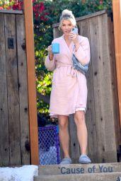 Amanda Kloots in a Bathrobe - Los Angeles 01/06/2021