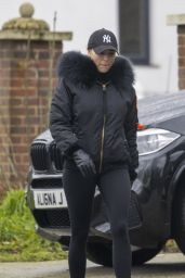 Amber Turner Wearing Weighted Ankle Weights - Chigwell, Essex 01/20/2021