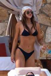 Amelia Hamlin in a Black Bikini - Beach in Tulum 01/03/2021
