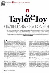 Anya Taylor-Joy - Fotogramas Magazine January 2021 Issue
