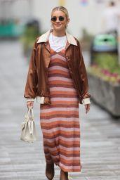 Ashley Roberts in a Kate Spade NY Dress, Nasty Gal jacket and Kurt Geiger Boots - London 01/12/2021