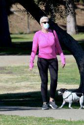 Brigitte Nielsenand Mattia Dessi at the Park in LA 01/08/2021