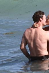 Brooks Nader in a Bikini on the Beach in Miami 12/31/2020