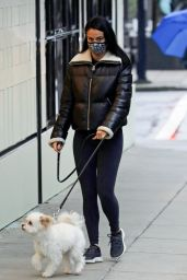 Camila Mendes - Walking Her Dog in Vancouver 01/30/2021