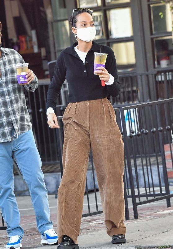 Cara Santana in Casual Outfit - Los Angeles 01/13/2021