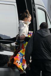 Chrissy Teigen - Boarding a Private Jet in LA 01/19/2021