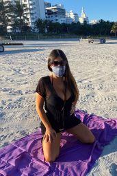 Claudia Romani - Peekaboo Masks Photoshoot in Miami Beach 01/06/2021