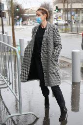 Clotilde Courau - Arrives in the RMC Studios in Paris 01/12/2021