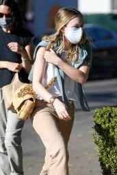 Dakota Fanning on Melrose Place in LA 01/16/2021