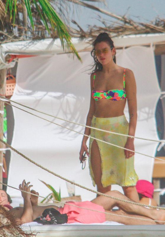 Dua Lipa in a Bikini on the Beach in Tulum 01/01/2021