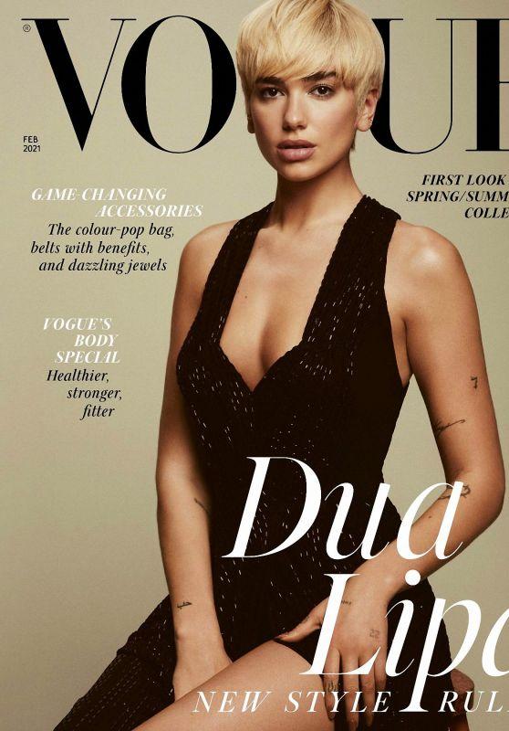 Dua Lipa - Vogue UK February 2021