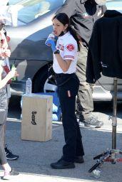 "Eiza Gonzalez - ""Ambulance"" Set in Los Angeles 01/18/2021"
