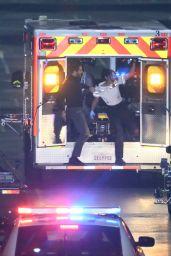 Eiza Gonzalez - Filming Scene for Ambulance in LA 01/27/2021