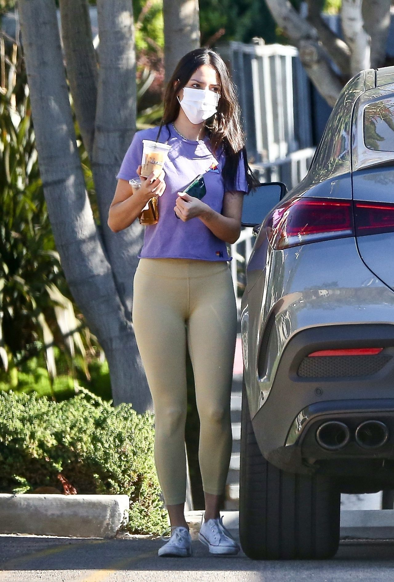 Eiza Gonzalez in Tights - Out in West Hollywood, August