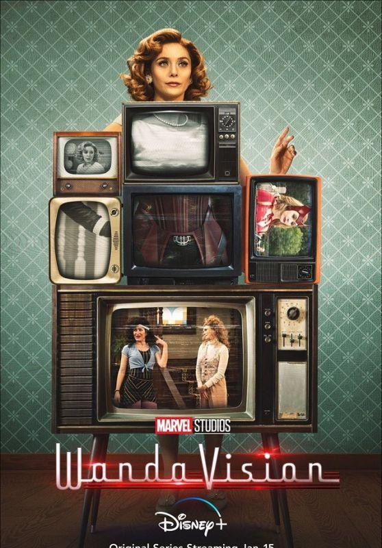 """Elizabeth Olsen - """"WandaVision"""" (2021)Posters and Teaser Trailer"""