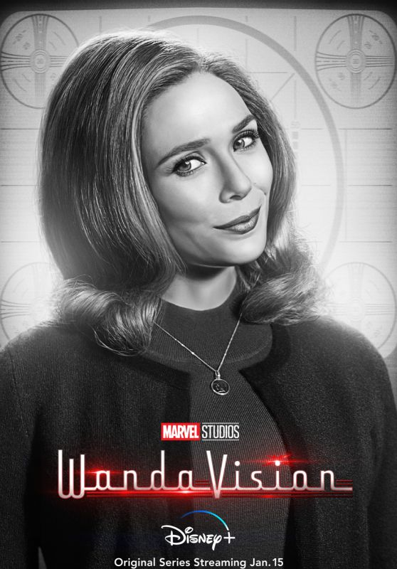 """Elizabeth Olsen - """"WandaVision"""" Posters and New Clips"""