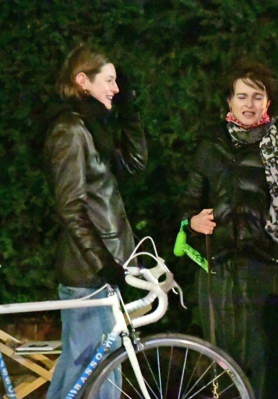 Emma Corrin and Helena Bonham Carter - Out in London 12/26/2020