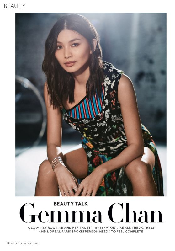 Gemma Chan – InStyle Magazine February 2021 Issue