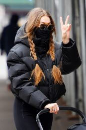 Gigi Hadid Street Style - NYC 01/11/2021