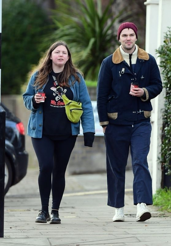 Hannah Murray and Nicholas Hoult - Out in Primrose Hill 01/02/2021