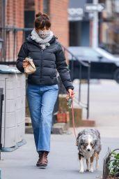 Helena Christensen - Morning Stroll in New York 01/11/2021