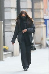 Iman Winter Street Style - Out in New York 01/11/2021