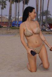 Iva Kovacevic in a Bikini on Election Eve in LA 01/19/2021