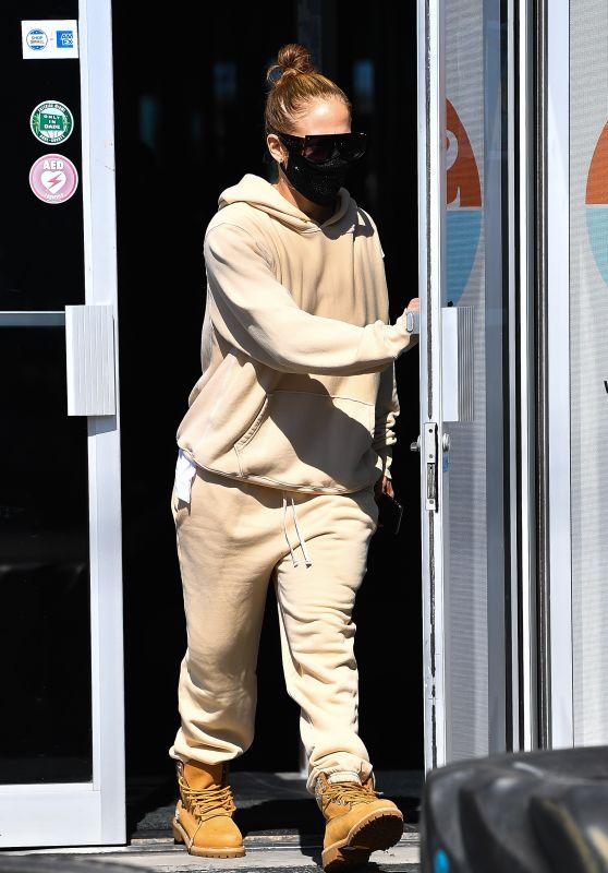 Jennifer Lopez in a Beige Outfit - Miami 01/28/2021