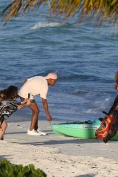 Jennifer Lopez in a Bikini on the Beach in Turks and Caicos 01/04/2021