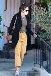 Jordana Brewster - Gets Coffee in Brentwood 01/26/2021