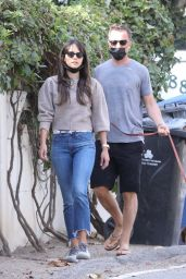 Jordana Brewster - Out in Brentwood 01/19/2021