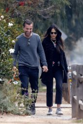 Jordana Brewster With Her Boyfriend Mason Morfit - Los Angeles 01/05/2021