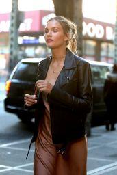 "Josephine Skriver - ""Maybelline"" Commercial Set in Brooklyn 01/16/2021"