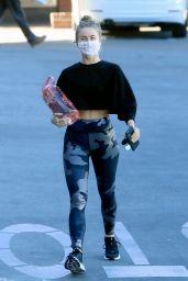 Julianne Hough in Leggings and Crop Top - Los Angeles 01/18/2021