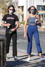 Kaia Gerber Street Style at Starbucks in Malibu 01/20/2021