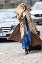 Kate Garraway in Blue Dress - London 01/08/2021
