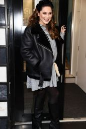 Kelly Brook in Mini Dress and Boots - London 01/19/2021