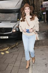 Kelly Brook Wears a Cowboy Hat and Denim Jeans - London 01/15/2021