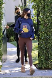 Kendall Jenner in Tights - Los Angeles 01/20/2021