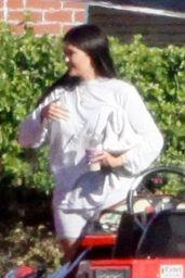 Kylie Jenner in a Red Lamborghini in LA 01/19/2021