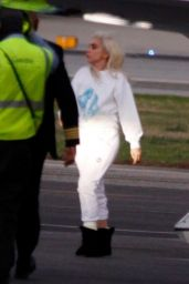 Lady Gaga - Flies Back From the Presidential Inauguration in Washington DC 01/20/2021