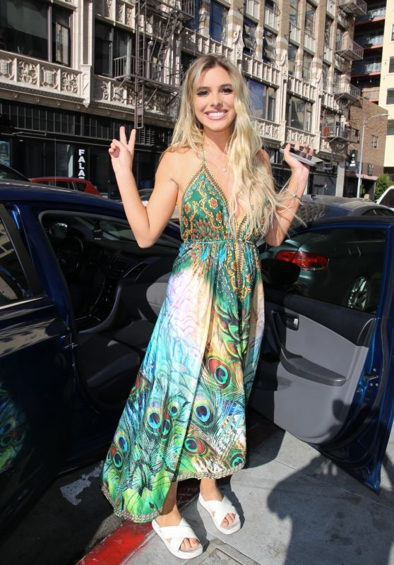 Lele Pons in a Peacock Dress - Los Angeles 01/10/2021