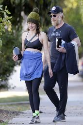 Lena Headey and Boyfriend Marc Menchaca -Out in Hollywood 01/20/2021