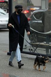 Lili Reinhart - Walking Her Dog in Vancouver 01/30/2021